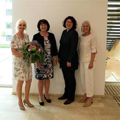 V. l.: Sybille Maag, Landrätin Maria Rita Zinnecker, Ulrike Propach und Christine Machacek. Quelle: Landratsamt Ostallgäu